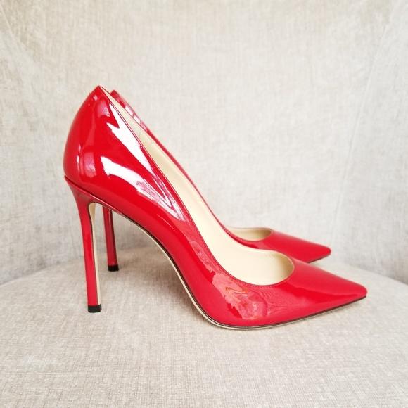 c8a06363fcc Jimmy Choo Shoes | Nib Red Patent Leather Romy 100 Pumps | Poshmark